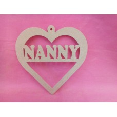 4mm MDF Heart NANNY